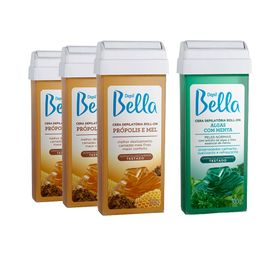 Kit-Cera-Depil-Bella-Roll-On-Propolis-e-Mel-100g-com-3-Ganhe-Roll-On-Verde-Algas-100g-28747