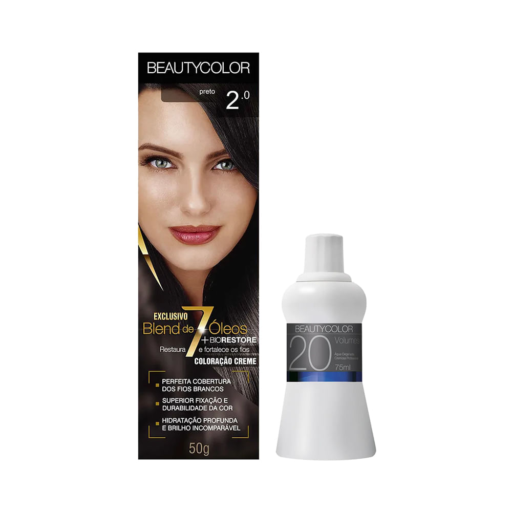 Kit-Coloracao-Beauty-Color-2.0-Preto-Gratis-Agua-Oxigenada-Cremosa-20-Volumes-67ml-29020