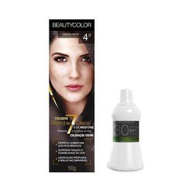 Kit-Coloracao--Beauty-Color-4.0-Castanho-Natural-Gratis-Agua-Oxigenada-30-Volumes-29036