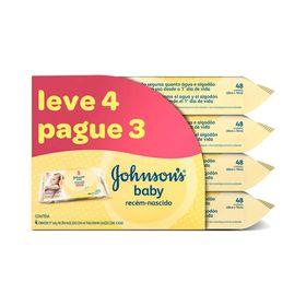 Leve-4-Pague-3-Toalha-Umedecida-Johnson-s-Baby-Recem-Nascido-com-48-Unidades-37002.00