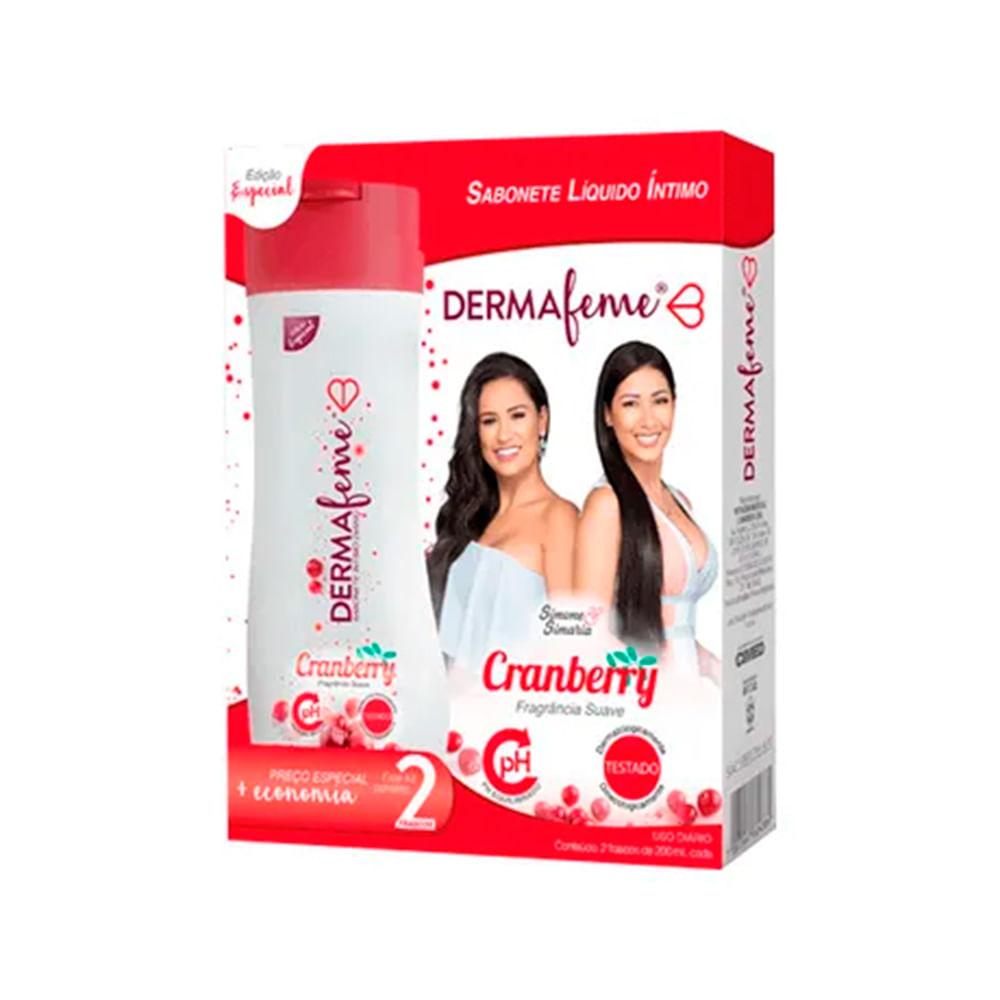 Kit-Sabonete-Intimo-Dermafeme-Cranberry-200ml-c2-unidades