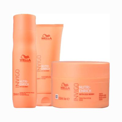 Kit-Wella-Invigo-Shampoo---Condicionador-250ml-Gratis-Mascara-Enrich-150ml