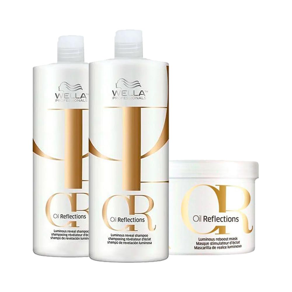 Kit-Wella-2-Shampoos-1000ml---1-Mascara-500ml-Oil-Reflections