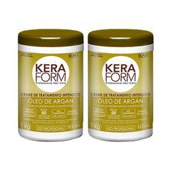 Kit-2-Creme-de-Tratamento-Skafe-Keraform-Oleo-de-Argan-1kg-com-50--de-Desconto-na-2º-Unidade