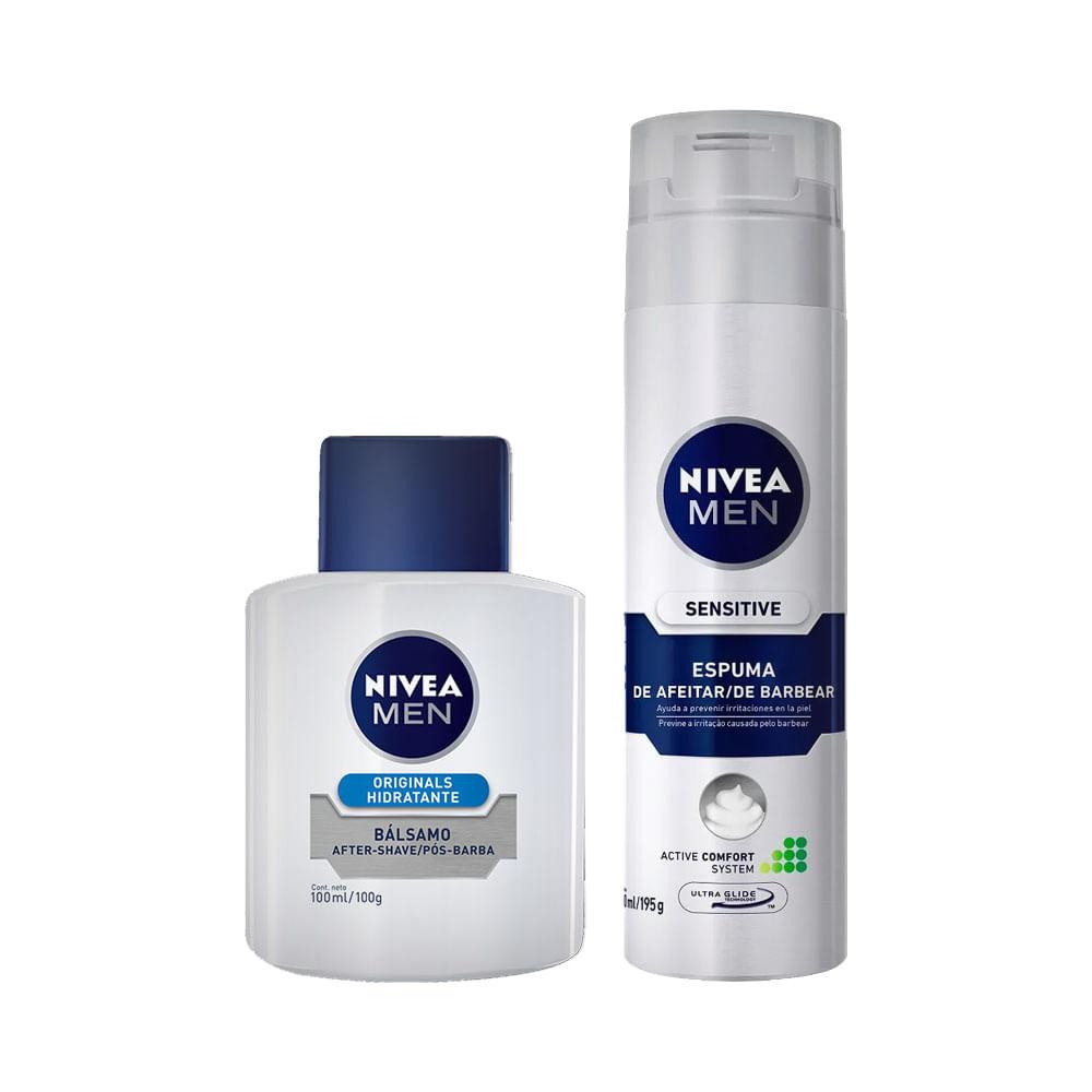 Kit-Pos-Barba-Nivea-For-Men-Hidratante-com-50--de-Desconto-na-Espuma-de-Barbear-For-Men-Sensitive