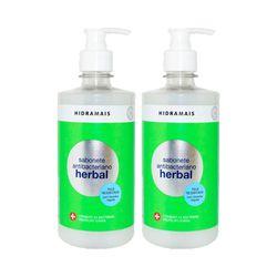 Kit-2-Sabonete-Liquido-Hidramais-Antibacteriano-Herbal-400ml-com-50--de-Desconto-na-2º-Unidade