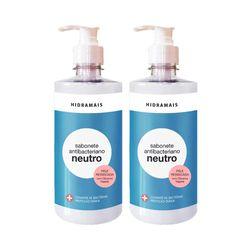 Kit-2-Sabonete-Liquido-Hidramais-Antibacteriano-Neutro-400ml-com-50--de-Desconto-na-2º-Unidade