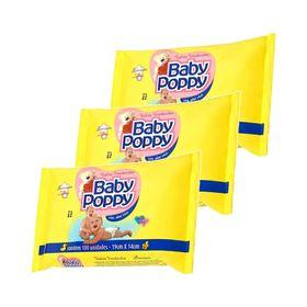Leve-3-Pague-2-Toalhas-Umedecidas-Baby-Poppy-Com-100-Unidades