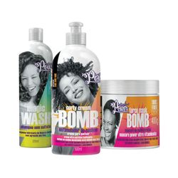 Kit-Soul-Power-Cream-Bomb-Creme-de-Pentear---Mascara-Gratis-Shampoo-Magic-Wash-315ml