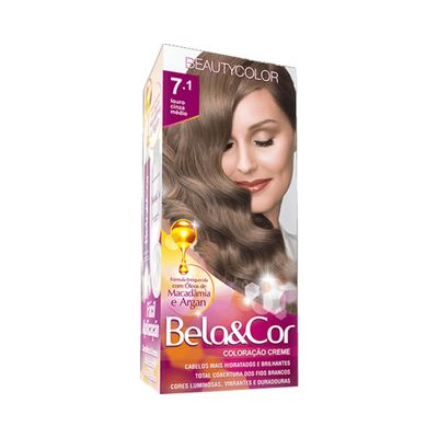 Kit-Coloracao-Bela---Cor-7.1-Louro-Cinza-Medio-Beauty-Color