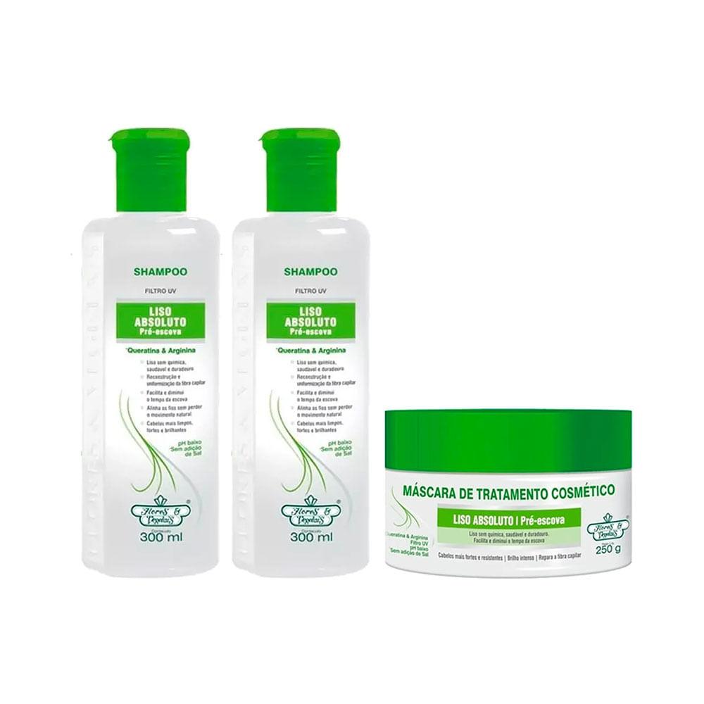 Kit 2 Shampoo Flores e Vegetais