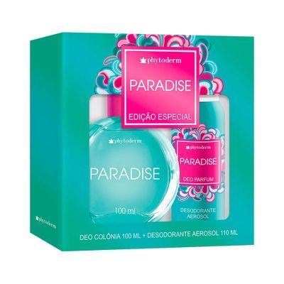 Kit-Phytoderm-Paradise-Deo-Colonia-100ml---Desodorante-Aerosol-110ml-caixa