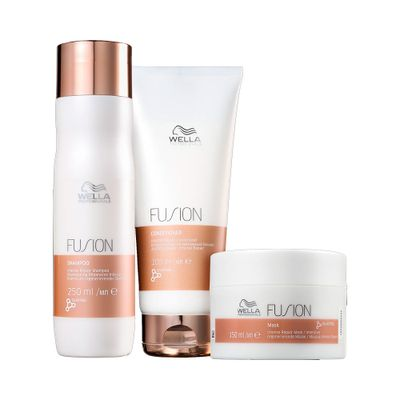 Kit-Wella-Shampoo-250ml---Condicionador-200ml---Mascara-Fusion-150g