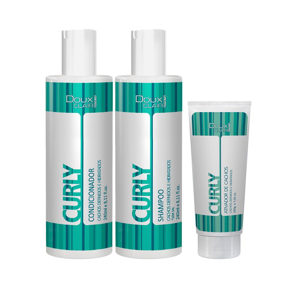Kit-Shampoo---Condicionador---Ativador-Curly-Effects-Doux-Clair-56485.00