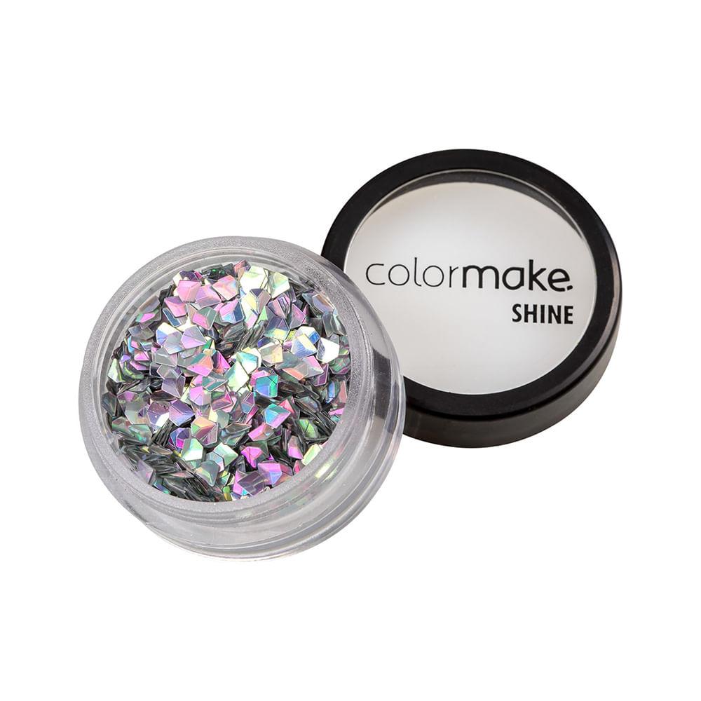 Glitter-ColorMake-Shine-Diamante-3D-Prata