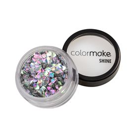 Glitter-ColorMake-Shine-Diamante-3D-Prata