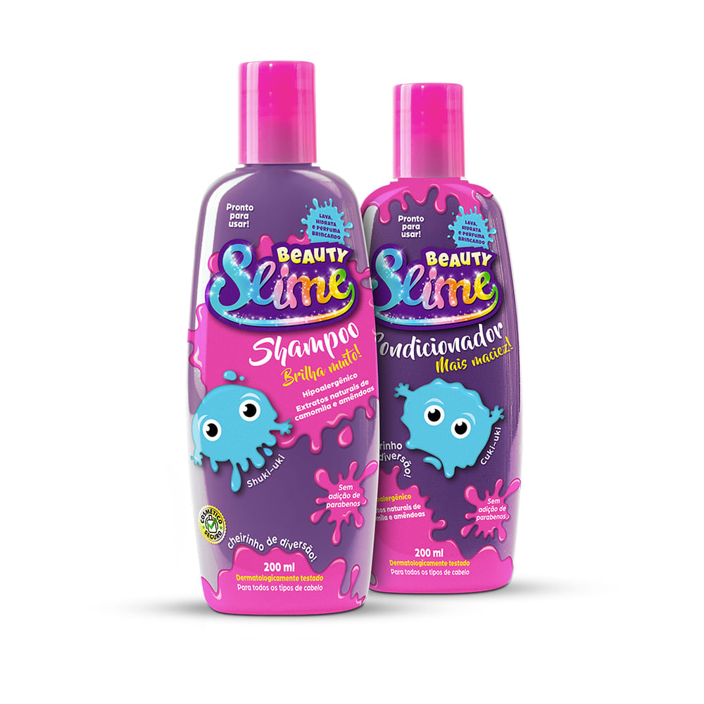 Kit-Shampoo---Condicionador-Beauty-Slime-Roxo-Neon-200ml