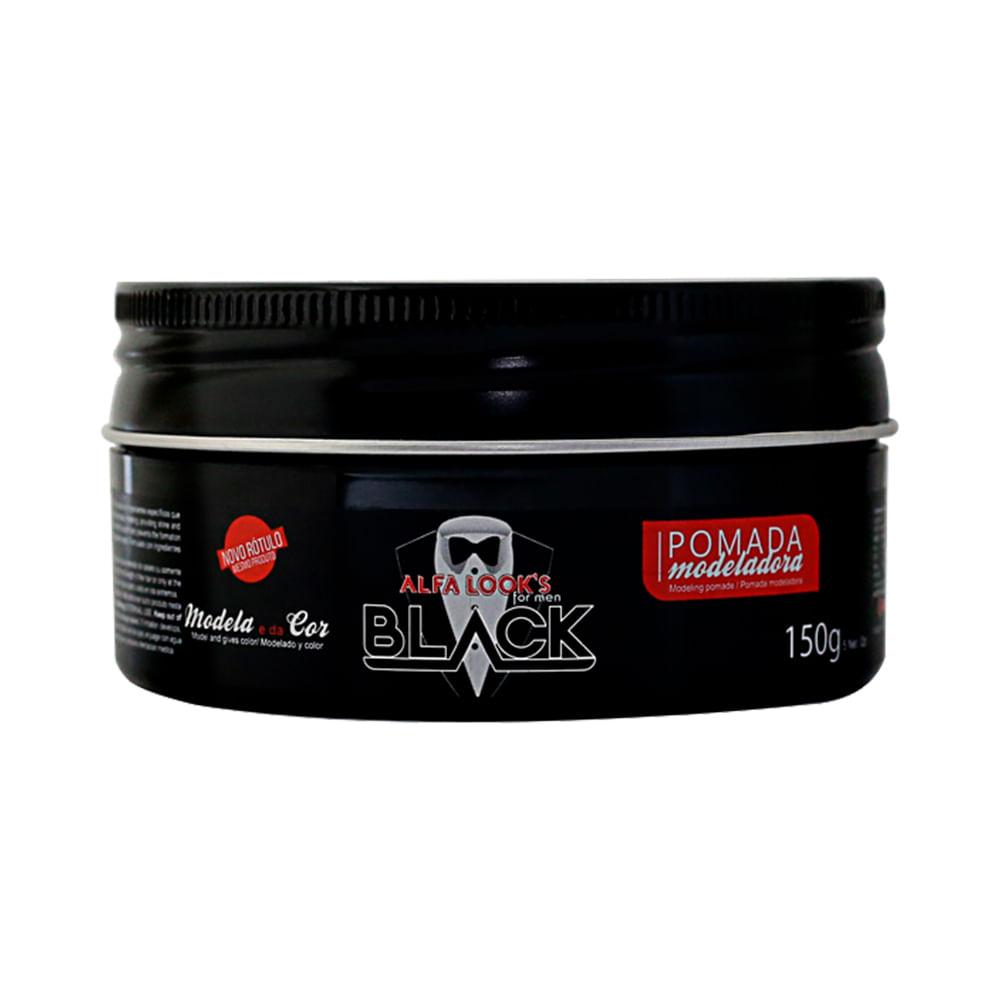 Pomada-Modeladora-Alfa-Looks-Black-150g
