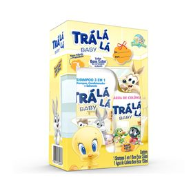 Kit-Tra-La-La-Baby-Shampoo-250ml---Agua-Colonia-Bem-Estar-150ml