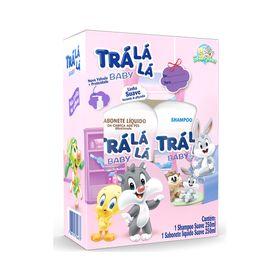 Kit-Tra-La-La-Baby-Shampoo---Sabonete-Liquido-Suave-250ml