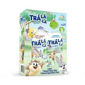 Kit-Tra-La-La-Baby-Shampoo---Sabonete-Liquido-Hidrata-250ml