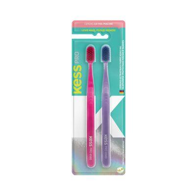 Kit-Escovas-Dentais-Kess-Pro-Extra-Macia-com-2-Unidades--2105--47905.00