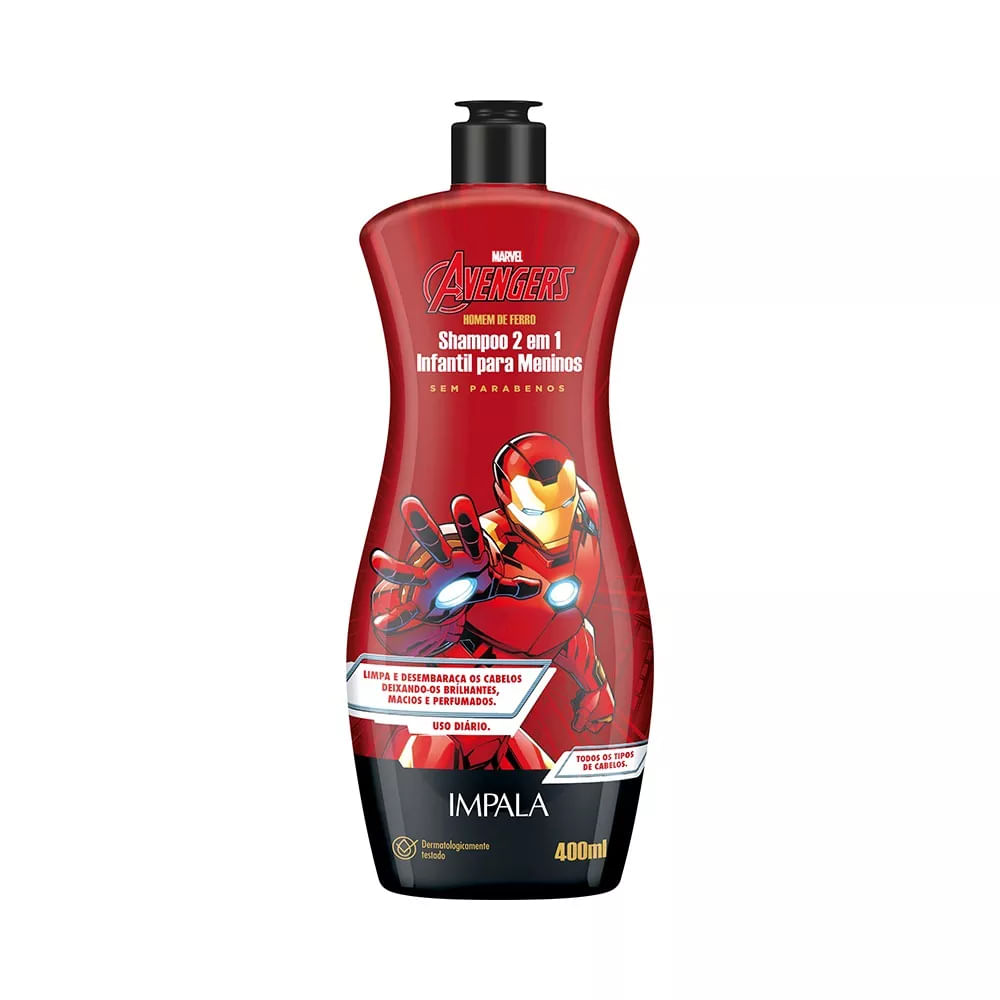 Shampoo-Impala-Avengers-2X1-Homem-De-Ferro-400ml