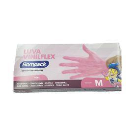Luva-Bompack-Viniflex-Rosa-com-100-Unidades-M-47828.03