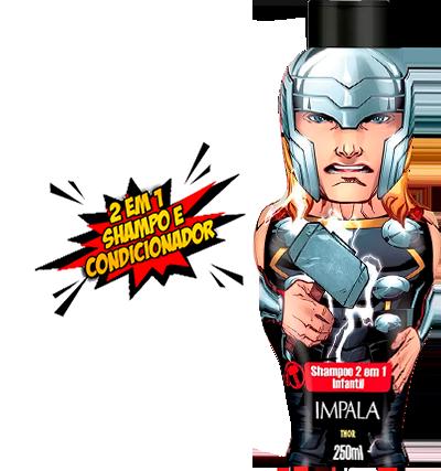 Shampoo Impala Avengers 2X1 Homem De Ferro 250ml