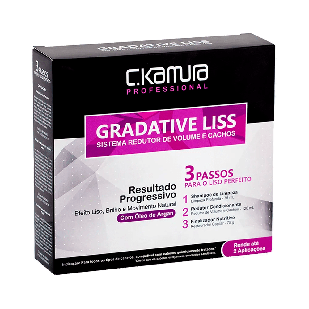Kit-Gradative-Liss-C.Kamura-Redutor-de-Volume