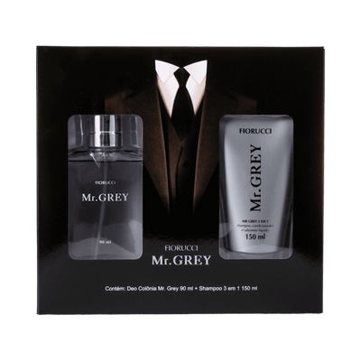 Kit-Fiorucci-Mr.-Grey-Colonia-90ml---Shampoo-3-em-1-150ml-7891177128993