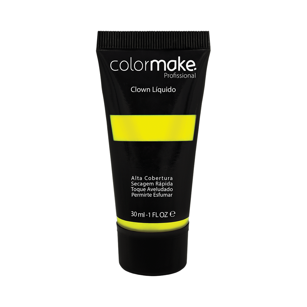 Maquiagem-Artistica-Clown-Liquido-ColorMake-Amarelo-Neon-30ml-7898595465716