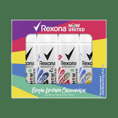 Kit-Rexona-Desodorante-Aerosol-Now-United-All-Day