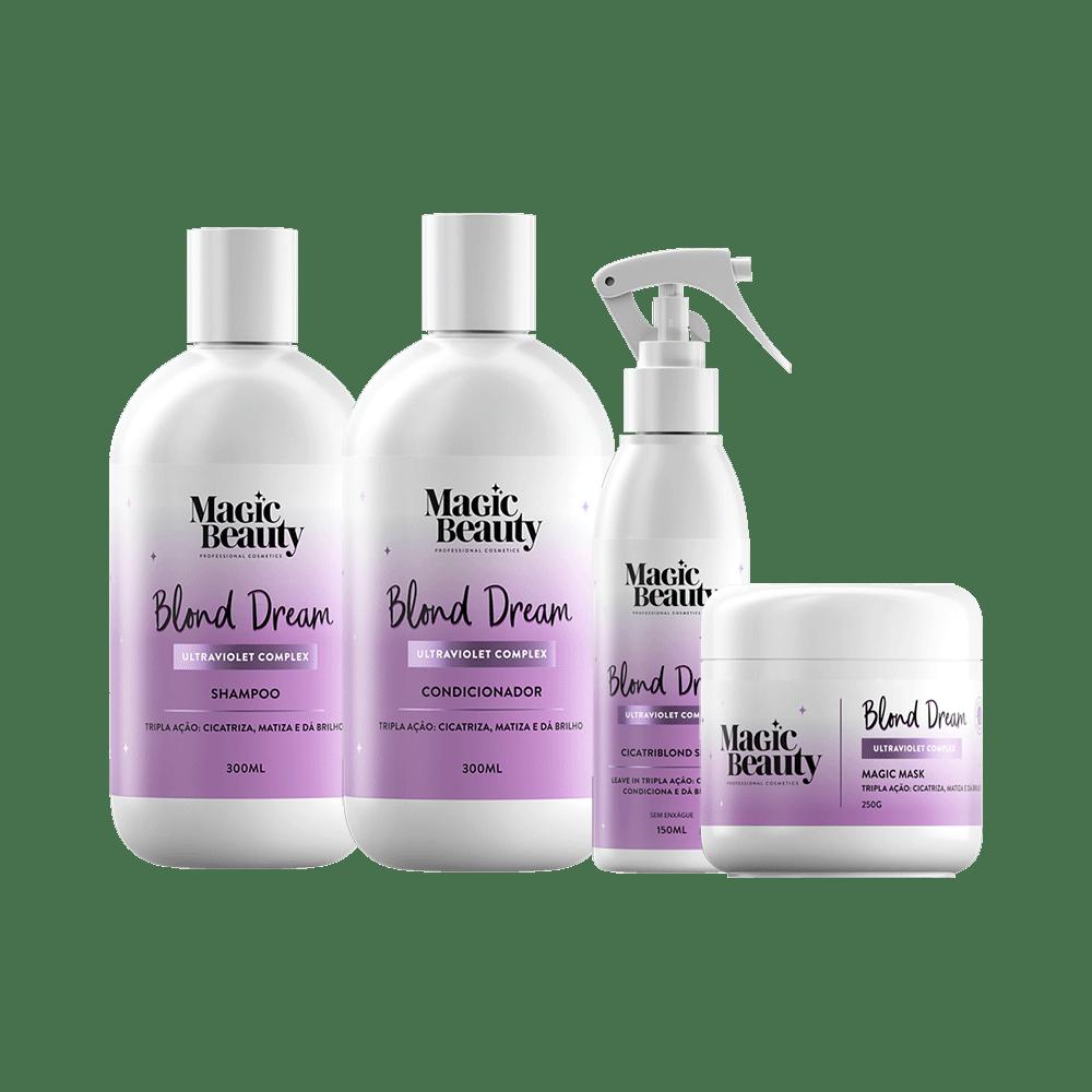 Kit-Magic-Beauty-Shampoo---Condicionador---Mascara---Spray-Finalizador-Blond-Dream
