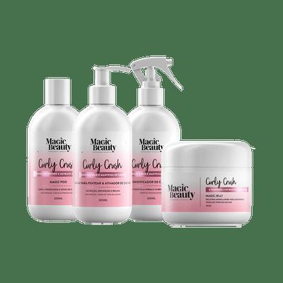 Kit-Magic-Beauty-Shampoo-Magic-Poo---Creme-Ativador---Umidificador---Gelatina