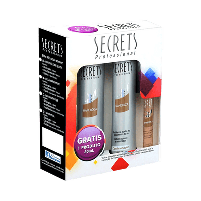 Kit-Secrets-Shampoo---Condicionador-Mandioca-300ml-Gratis-Ampola-30ml