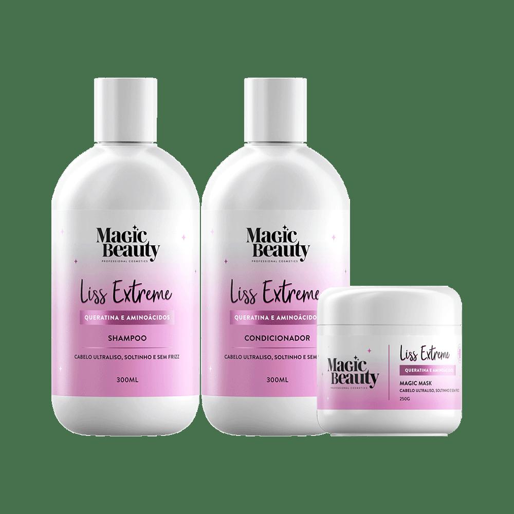 Kit-Magic-Beauty-Shampoo---Condicionador-300ml-Gratis-Mascara-Liss-Extreme-250g