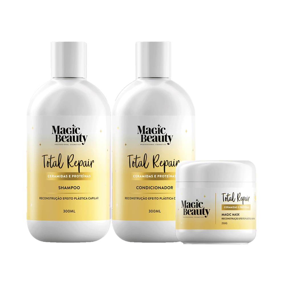 Kit-Magic-Beauty-Shampoo---Condicionador-300ml-Gratis-Mascara-Total-Repair-250g