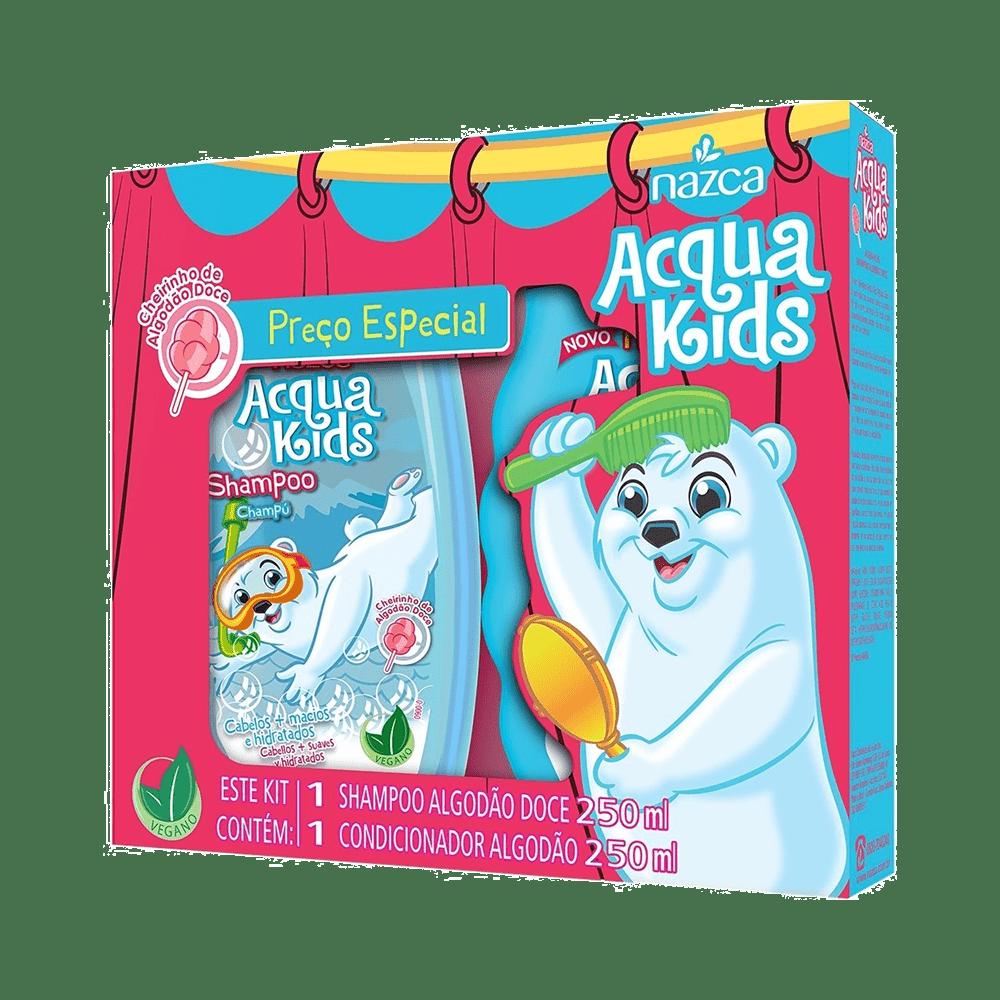 Kit-Acqua-Kids-Shampoo-250ml---Condicionador-250ml-Algodao-Doce-7896085871375