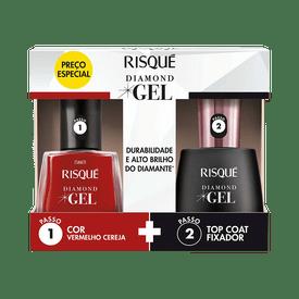 Kit-Risque-Esmalte-Vermelho-Cereja---Top-Coat-Diamond-Gel