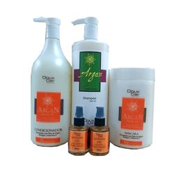Kit-Hidratacao-Profunda-Professional-Doux-Clair-Argan-Shampoo---Condicionador---Mascara---Oleo
