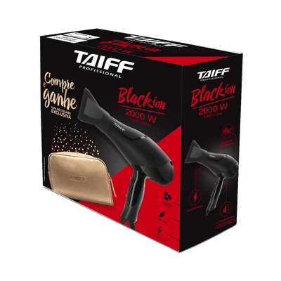 Kit-Taiff-Secador-Black-Ion-2000W-220v---Necessaire-Dourada