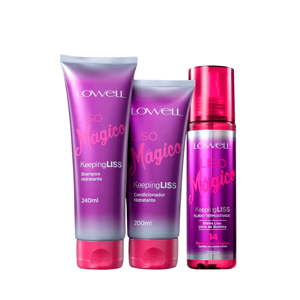 Kit-Lowell-Liso-Magico-Shampoo-240ml-Condicionador-200ml-Fluido-200ml