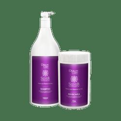 Kit-Doux-Clair-Premium-Silver-Matizador-Gloss-Shampoo---Mascara