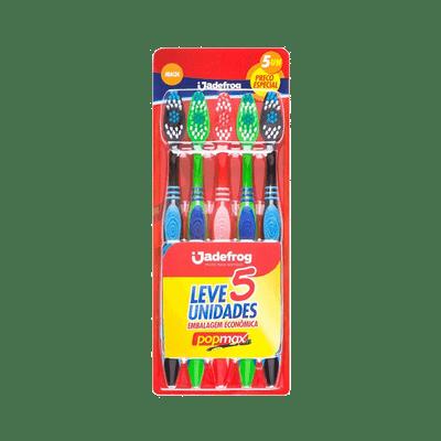 Escova-de-Dente-Jadefrog-Popomax-Macia-com-5-Unidades-7897217403860