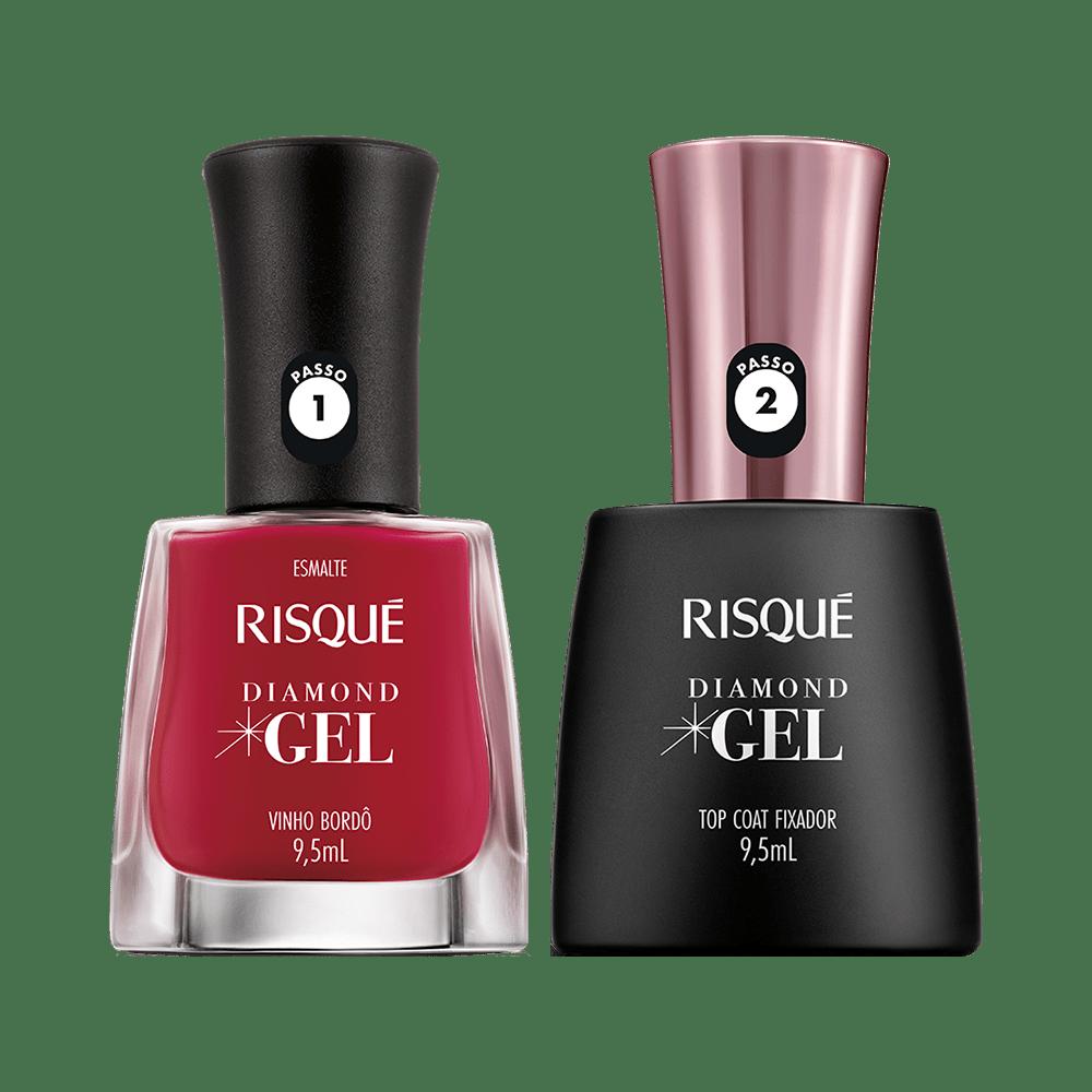 Kit-Risque-Esmalte-Diamond-Gel-Vinho-Bordo---Top-Coat-9900000040345