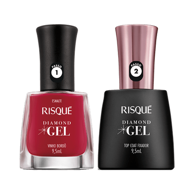 Kit-Risque-Esmalte-Diamond-Gel-Vinho-Bordo---Top-Coat-9900000040345