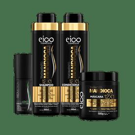 Kit-Eico-Shampoo---Condicionador-800ml---Mascara-Mandioca-500g-Gratis-Oleo-de-Coco