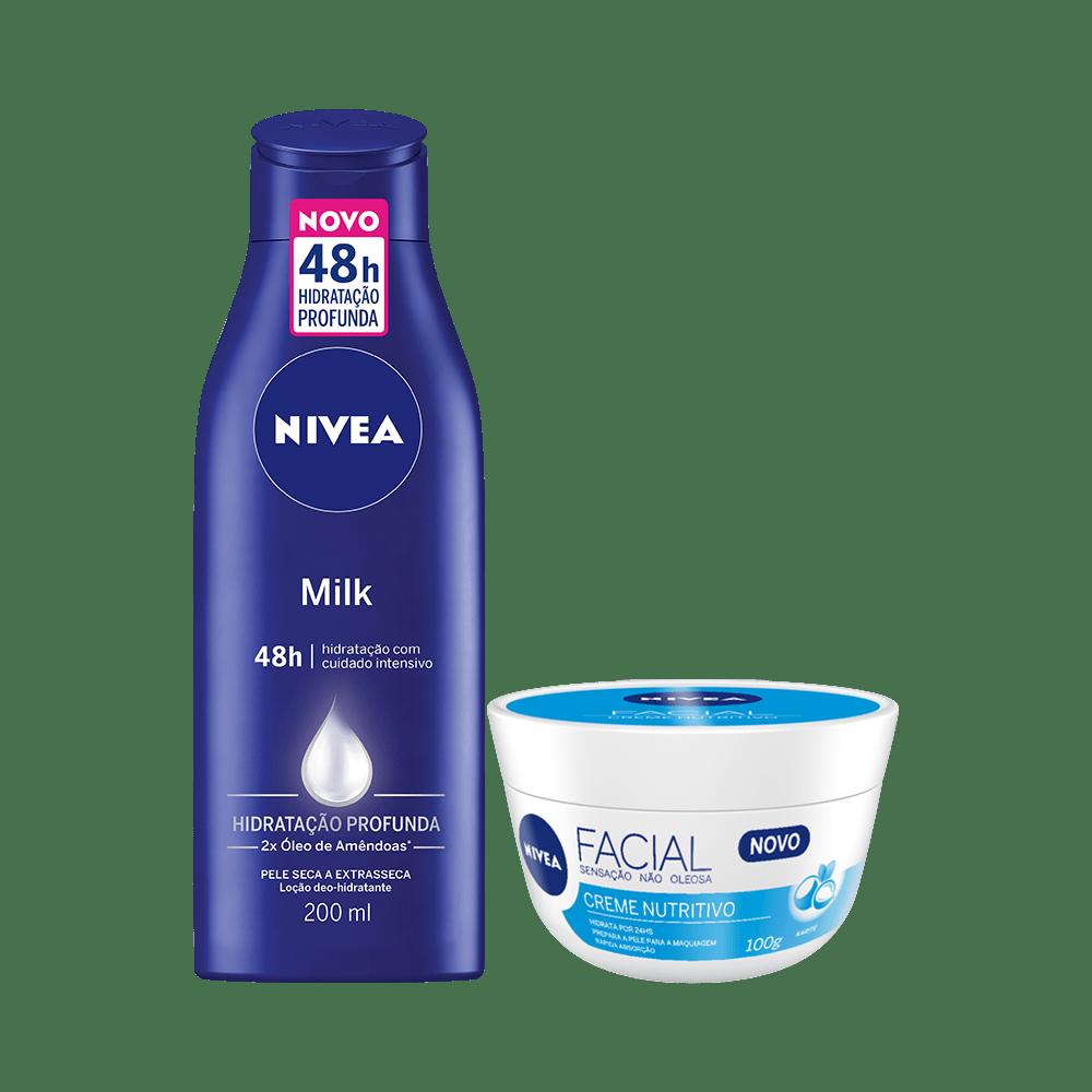 Kit-Nivea-Locao-Corporal-Milk-200ml---Creme-Facial-Nutritivo-100g-4005900775689