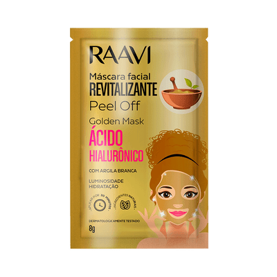 Mascara-Facial-Raavi-Gold-Mask-Peel-Off